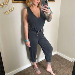 Audrey 3 + 1 grey sleeveless jumpsuit size small